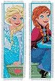 Vervaco–Kit para cojín de Punto de Cruz Kit de Punto de Cruz: marcadores: Frozen–Sisters Forever (Set de 2), Varios, Juego de 2