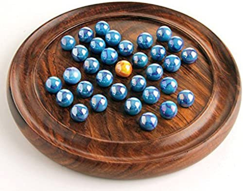 House of Marbles Wooden Solitaire Coffee Table Board Game Vintage Entertainment by House of Marbles
