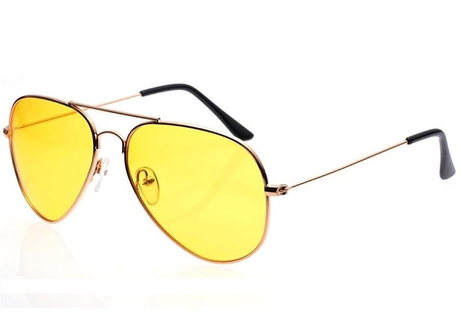 Baselay Night Driving Glasses, Classic Aviator Polarized Sunglasses Anti Glare Rainy HD Night Vision Yellow Lens Safty Glasses for Men Women