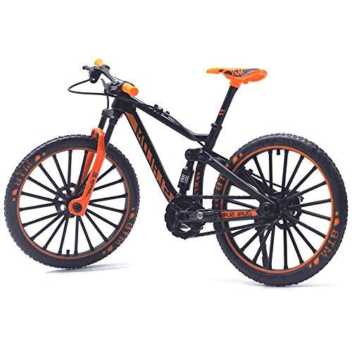 IWILCS Finger Fahrrad Modell, 1:10 Mini Fahrrad Spielzeug, Miniatur-Finger-Mountainbike Mini-Bike-Modell-Ornament für Jungen Mädchen, Geschenk für Kinder