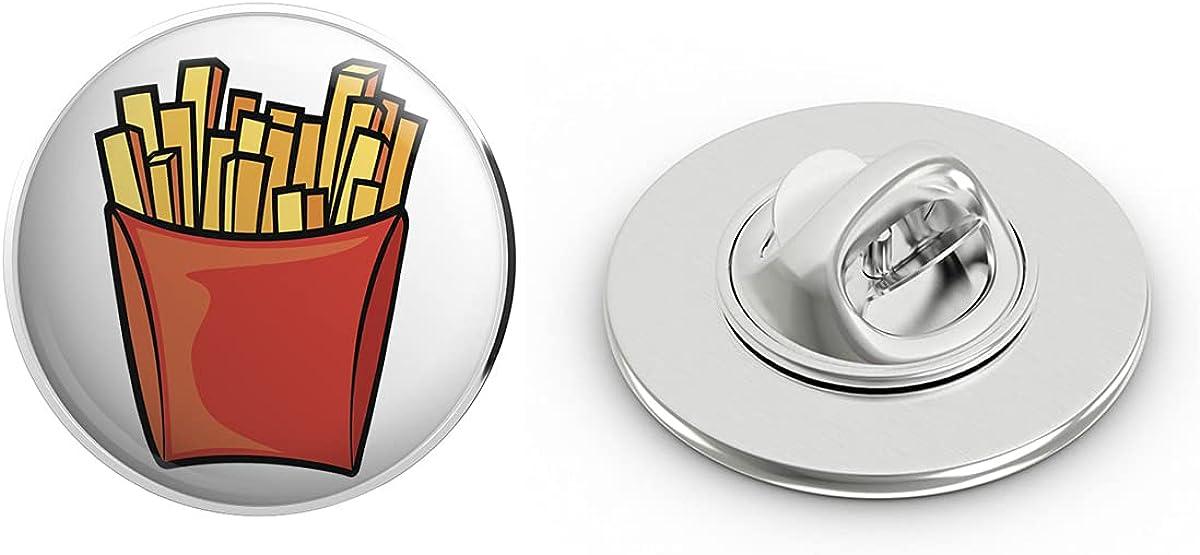 BRK Studio Simple Classic Fast Food French Fries Cartoon Emoji Round Metal 0.75