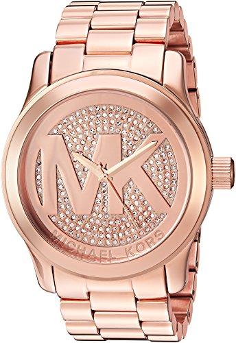 Michael Kors Damen-Armbanduhr Runway Rose Necklaces Halskette MK5661