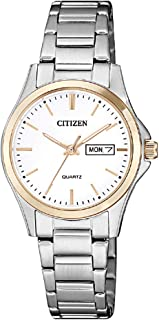 Citizen Women White Dial Stainless Steel Band Watch - EQ0596-87A