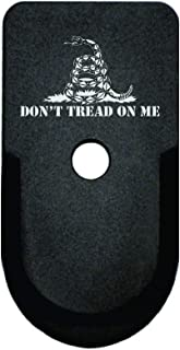 BASTION Laser Engraved Aluminum Finger Extension Grip Magazine Base Plate for Springfield XD-S 9mm/40 Cal/45 ACP - Dont Tread On Me