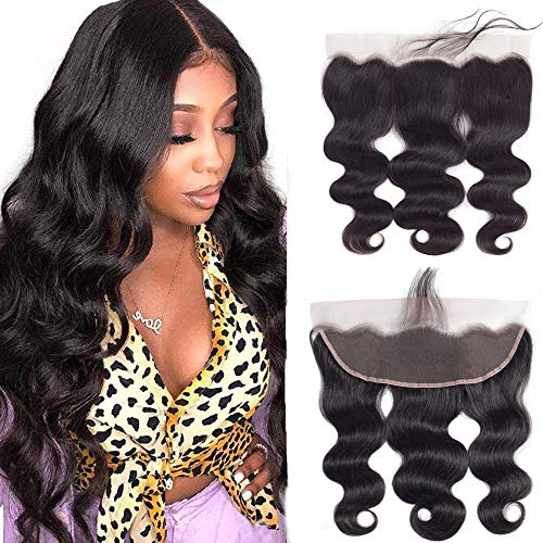 13x4 Lace Frontal Closure Human Hair 20inch Body Wave Ear To Ear Lace Frontal Pre Plucked with Baby Hair Brazilian Virgin Human Hair Frontal Closure
