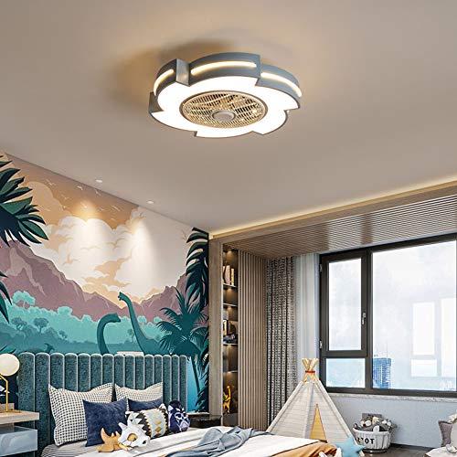 Ventilator Aan Het Plafond Met Verlichting 46W Ultra-Quie Children's Fan Lamp Met Afstandsbediening Moderne Slaapkamer Plafondlamp Restaurant Lampen Voor Huishoudelijk Gebruik,Blue