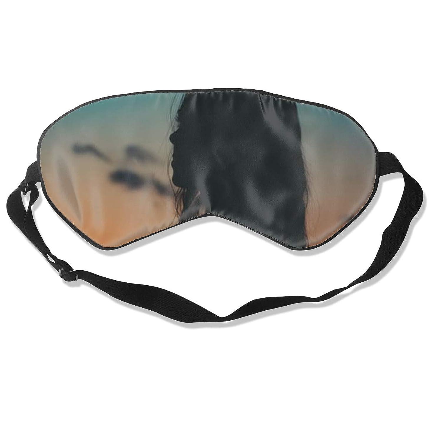 Little Girl in The Night Sky4 Best Sleep Mask Travel, Nap, Adjustable Belt Eye Mask for Men and Women