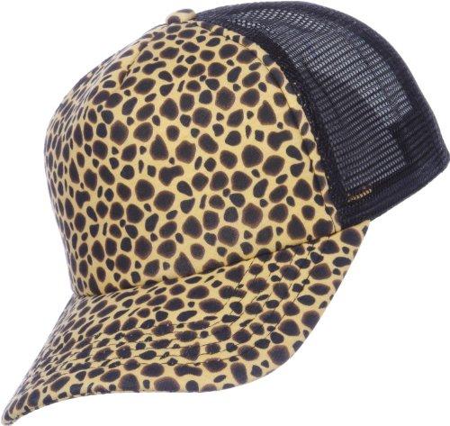 MASTERDIS BASEBALL CAP PRINTED JERSEY TRUCKER UNI BASECAP HERREN DAMEN, Farbe:cheeta/black