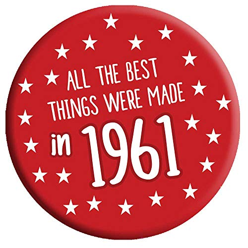 60th Birthday Badge 60 Today 76mm Pin Button Novelty Gift Men Women Made in...