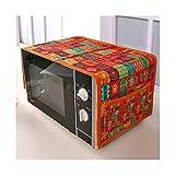 OYPY Cubierta de Horno de microondas de algodón de Aduanas étnicas con Bolsa de Almacenamiento Cubierta de Polvo Anti óleo (Color : AD, Talla : 88x33cm)
