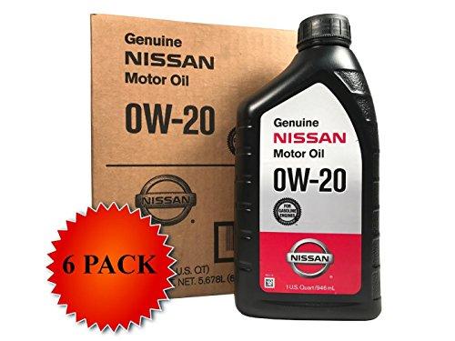 Nissan Genuine Synthetic 0W-20 Motor Oil 999PK-000W20N (Case of 6)