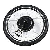 Jacksking Kit de Motor de Bicicleta eléctrica, aleación de Aluminio 48V 1500W 26 Pulgadas Bicicleta eléctrica Ebike Conversion Hub Motor Motor Kit de Rueda, Conversión de Motor de Bicicleta(#2)