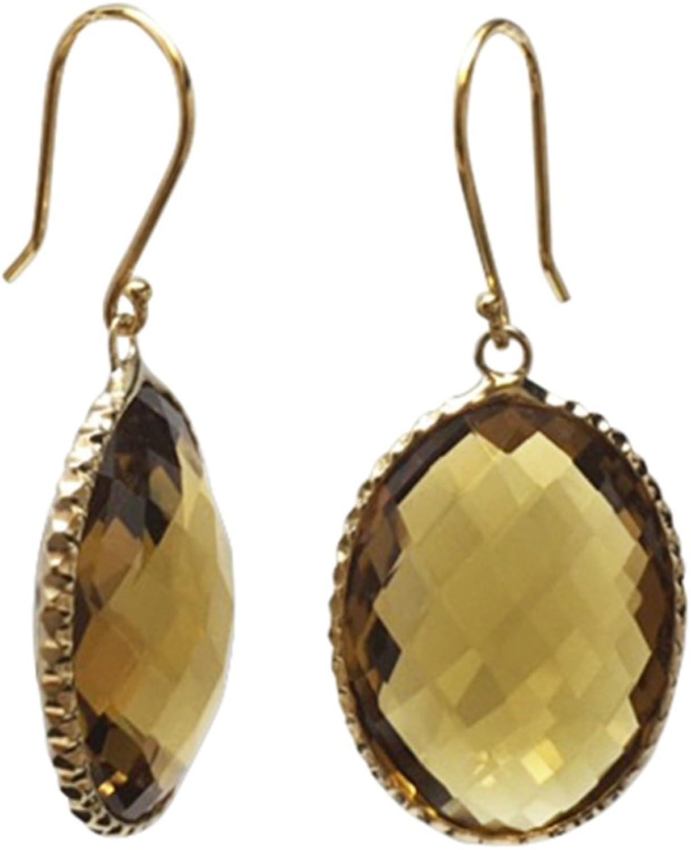 14K Yellow gold Coniac Oval 20x15mm Earrings