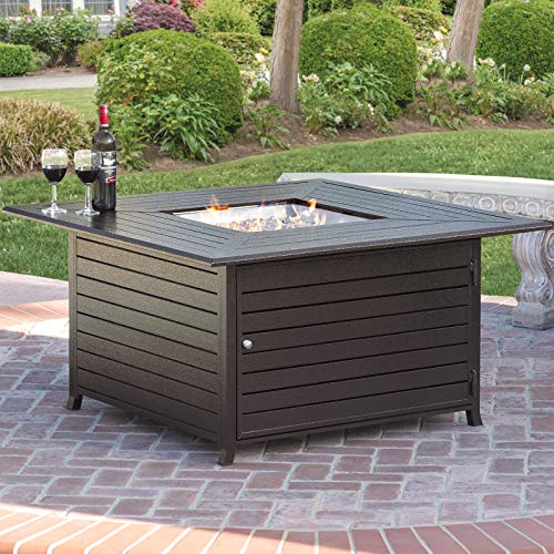 Best Choice Products 45x45in Extruded Aluminum Square Fire Pit Table...