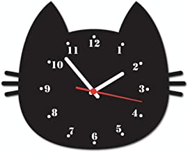 Relógio De Parede Beek Gato Bigode Beek Geek's Stuff Preto