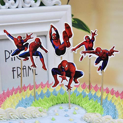 Cupcake toppers 24 stycken tårtdekoration cupcake-dekoration barn födelsedag bröllop baby duschar bröllop fest tillbehör dekor förmåner