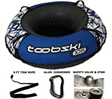 """Toobski 109 Spider Snow Tube with 48"""" Cover and Safety Valve - Heavy-Duty Sledding Tube - for Kids and Adults Connectable with Included Carabiner and Includes 6-ft Tow Strap"""
