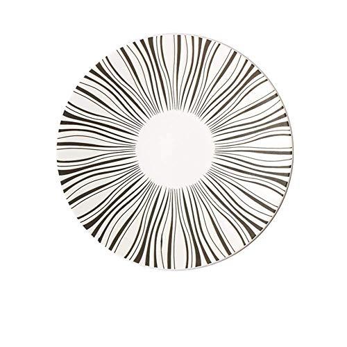 LILICEN Imprimir Placa de cerámica Occidental Creativo del Sombrero de Paja Plato de Las pastas Placa de Postre Personalidad Placa Restaurante 8 Pulgadas