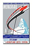 Monorail Disneyland Poster (28 x 43 cm) Vintage
