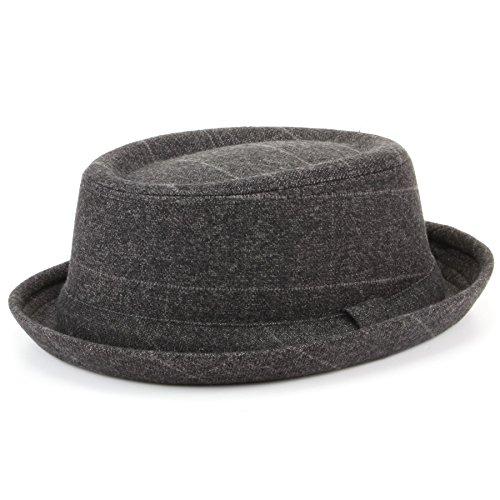 Hawkins Porkpie-Hut mit Hutband, Grau, Tweed - 59 cm