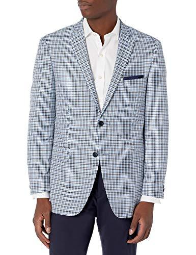 U.S. Polo Assn. Men's Sportcoat, Navy/Light Blue/White Check, 44 Long