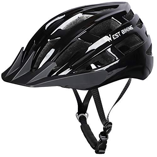ICOCOPRO Erwachsene Fahrradhelm Damen Herren, CE Zertifizierter MTB Mountainbike Helm mit Abnehmbarem Visier und Polsterung - für Radfahren Roller Skateboarding