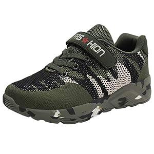 ZXB Se/ñoras//Ni/ños Zapatos Deportivos Verano y Oto/ño Camuflaje Zapatillas Lienzo y Tejido de Algod/ón Respirable y Ligero