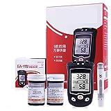 Sock Medidor de glucosa en Sangre y ácido úrico 2 en 1 Gran Pantalla Digital LCD con 50 Tiras Prueba sin código, 50 x Tira Prueba de ácido úrico,1 Pluma recolección Sangre mmol/L Fauay