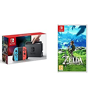 Nintendo Switch - Consola color Azul Neón/Rojo Neón + The Legend Of Zelda: Breath Of The Wild (B076QF4D84) | Amazon price tracker / tracking, Amazon price history charts, Amazon price watches, Amazon price drop alerts