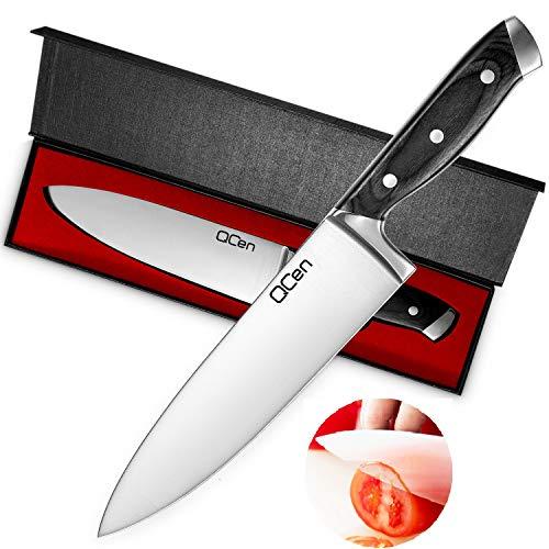 QCen Cuchillos de Cocina Profesional Cuchillos Chef Acero Inoxidable de Alemania con...