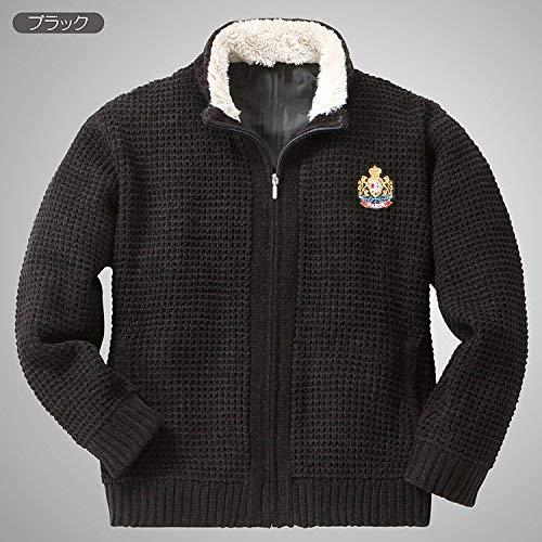 『裏地付き 柔らか ニットジャケット ACPR-2217 しおり型ルーペ付き (LL, ブラック)』の4枚目の画像