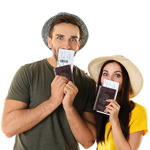 Shvigel Leather Passport Cover – Holder – for Men & Women – Passport Case (Glossy Brown)