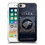 Official HBO Game of Thrones Stark Metallic Sigils Soft Gel Case Compatible for iPhone 7 / iPhone 8