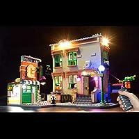 LEGO 21324、USBマルチチャンネルリモコンライトセット用LED照明キットLego Sesame Street 21324ビルディングブロック(LEGOセットを含まない)