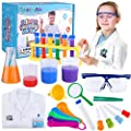 GiftInTheBox Kids Science Experiment Kit with Lab Coat Scientist Costume Dress Up and Role Play Toys Gift for Boys Girls Kids Age 5 - 11 Christmas Birthday Party from GiftInTheBox