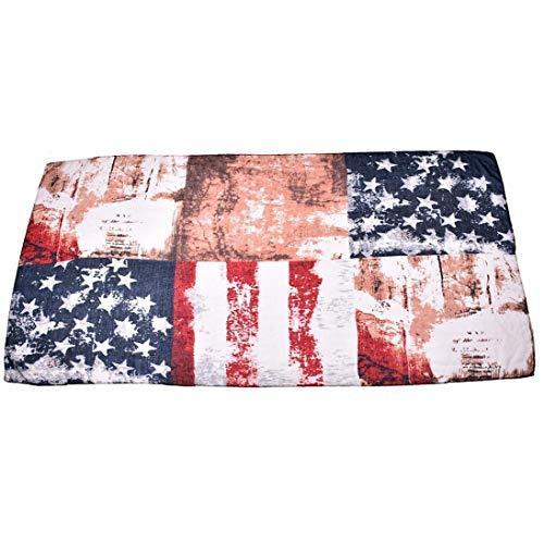 XKJFZ American Flag-Druck-Schal Leichter Voile Garn Hals Wraps Bohemian-Verpackungs-Schal Winter-Stola für Mädchen-Frauen-Winter-warme Supplies