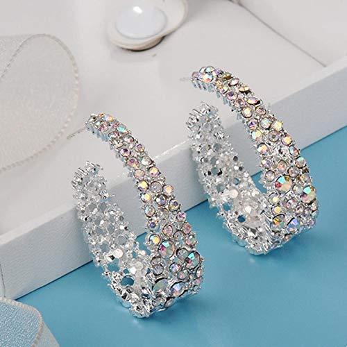 AQUALITYS Pendientes de aleación de Colores más Bonitos para Mujer, Pendientes Coloridos con Incrustaciones de Diamantes de imitación, Regalo de joyería, Pendiente de Color Brillante, Multicolor