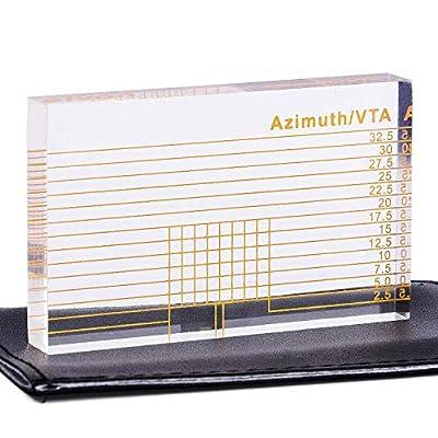 VTA Azimuth Ruler LP Vinyl Record Player Tonearm Cartridge Elevation Alignment Ruler Headshell Block
