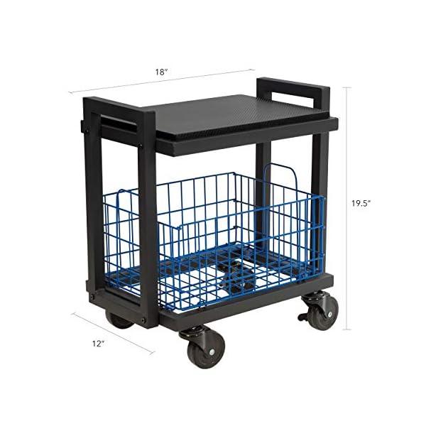 Atlantic Configurable Storage Cart System – 2-Tier Slim Cart, Black