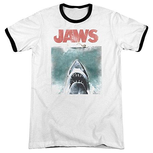 Jaws Vintage Ringer T-shirt, Official Design, S to 3XL for Men