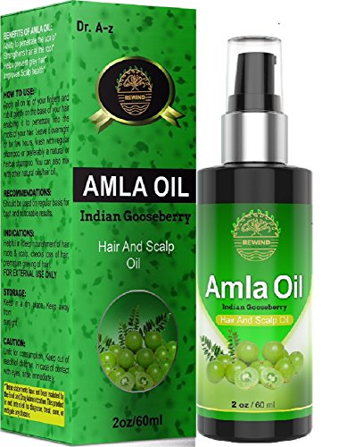 Amla Huile essentielle BIO – Huile Cheveux et le cuir chevelu indien d'oie Berry 100% naturel – évite prématuré Gris chiné – favorise la pousse des cheveux – Bloque Alopécie – pas de produits chimiques