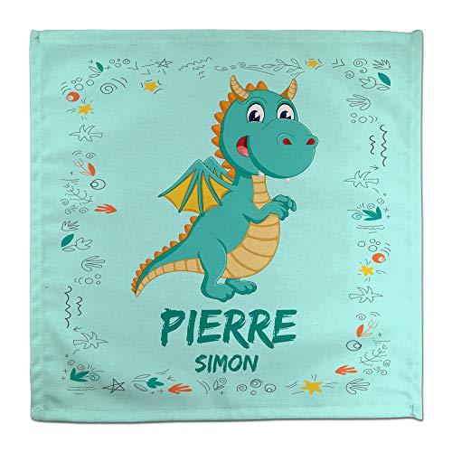 Serviette de Table Dragon Personnalisée au Prénom. Rentrée Scolaire Fille Garçon. Divers modèles. Dragon