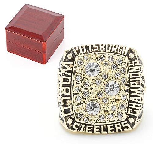 Super Bowl 1979 Pittsburgh Steelers Championship Replica Ring, für Sport-Fans Preis Souvenir Größe 9-13,10