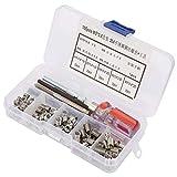 Juego de 105 piezas de herramientas antisísmicas para reparación de roscas de alta resistencia para electrónica (M5 x 0,8)