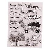Winter Clear Stamps Weihnachtsvogel Deer Snowflake Transparenten Silikon Stempel Siegel Für DIY...