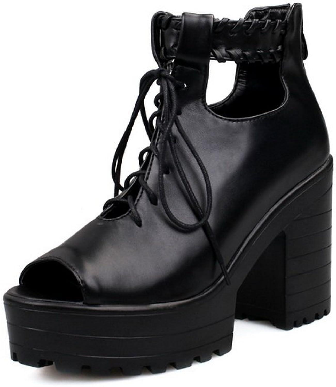 1TO9 Girls Zipper High-Heels Black Soft Material Sandals - 7.5 B(M) US