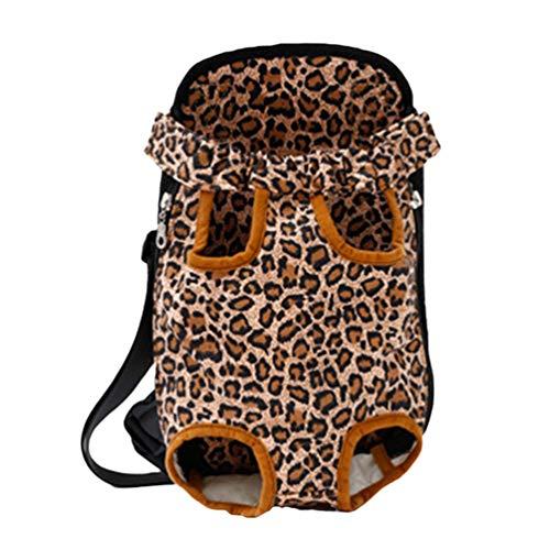 Yuncai Katzen Hunde Rucksack, Welpentierträger Vordertasche Rucksack, Atmungsaktiver Hundetragetaschen für Wanderungen im Freien (Stil#9, S)