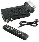 Decoder Digitale Terrestre HD Mini Dvb T2 USB Hdmi Presa Scart 180° Televisione...