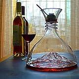 Sweet 1800 Ml De Decantador De Vino Aireador Botella De Vidrio De Jarra De Vino De Cristal Sin Plomo, con Bola De Jarra Rápida,B