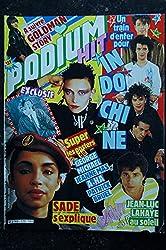PODIUM HIT 173 juillet 1986 GOLDMAN INDOCHINE SADE LAHAYE